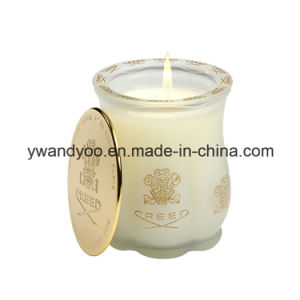 Decorative Soy Candles in Glass Jar with Metal Lid