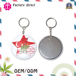 50mm Diameter Size Metal Keychain with Logo pictures & photos