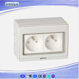 IP55 2 Gang Waterproof Electric France Wall Socket pictures & photos