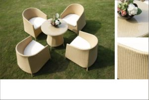 Outdoor Rattan Wicker Dining Chair Table Garden Patio Set