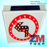 Aluminum Solar Powered Traffic Sign / LED Flashing Road Warning Sign pictures & photos