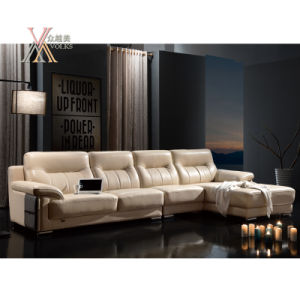 Leather Sofa with Chrome Leg (833)