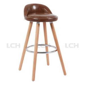 Upholstery Counter Chair Bar Chair with Fixed Beech Wood Legs