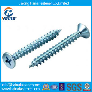 Blue Zinc Plated Cross Head Self Tapping Wood Screw pictures & photos