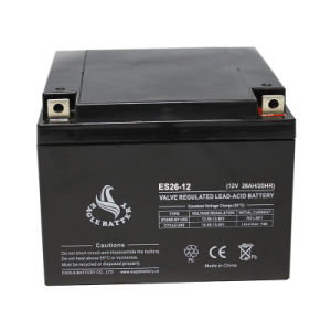 12V 26ah VRLA Rechargeable Lead Acid Battery