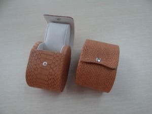 Wooden Paper Watch Boxes with PU and Velvet Insert