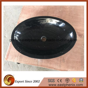 Black Marquina Bathroom Stone Sink