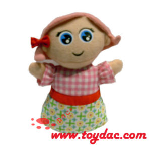 Plush Cartoon Girl Doll