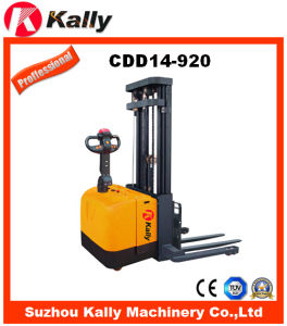 Electric Straddle Stacker for Material Handling with Wide Leg (CDD14-920)