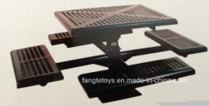 Park Bench, Picnic Table, Cast Iron Feet Wooden Bench, Park Furniture FT-Pb048