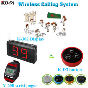 Good Quality Koqi 433.92MHz Transmitter Receiver Wireless Pager System pictures & photos