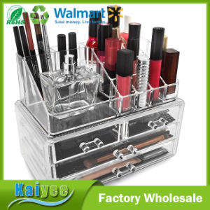 Acrylic Cosmetic Makeup and Jewelry Storage Case Display Organizer with 4 Drawer pictures & photos