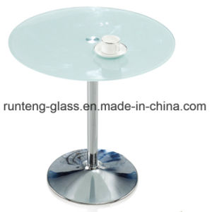 Low Iron Round Shade Acid Etched Glass Frosted Glass Table Top
