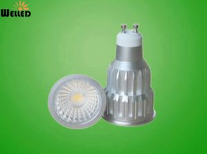 10W Dimmable Version COB LED Spotlight GU10 LED Spot Light with Cold Forging Aluminum 800lm 80ra