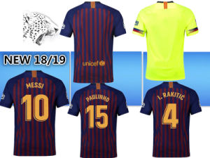 half off d2cac bb401 Top Quality Barca Soccer Jersey 2018 2019 9# 10# Messi 8 Iniesta 9 Suá Rez  11 Dembele 14 Coutinho Football Uniforms Shirts Soccer Jerseys