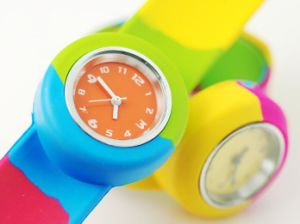 Color Mixture Eco Friendly Creative Silicone Slap Watch pictures & photos