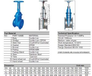 Ductile Iron Fire Fighting Rising Stem Gate Valve pictures & photos