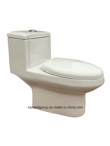 One Piece Toilet Siphonic Toilet Water Closet Wc 8014