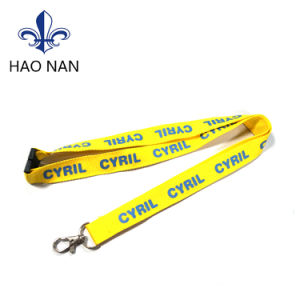 Custom Silkscreen Printing Both Sides Polyester Lanyard pictures & photos