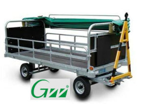 Airport Enclosed Baggage Cart Trolley with Canopy pictures & photos