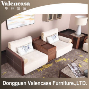 Home Furniture Leather Sofa Wooden With Storage Function