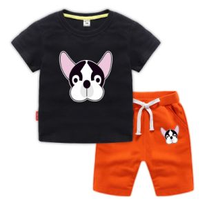 French Bulldog Kids Cotton T-Shirt Basic Soft Short Sleeve Tee Tops for Baby Boys Girls