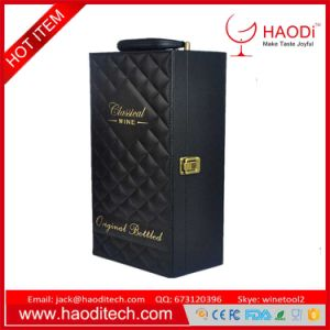 China Pu Leather Wine Box For 2 Bottle Wine Gift Box With