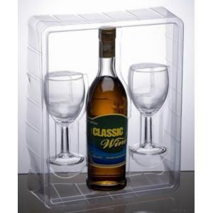 Plastic Packaging for Wine and Glass Cup