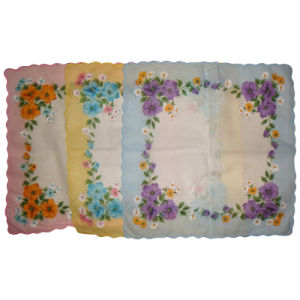 Lady Handkerchief/Flower Handkerchief pictures & photos