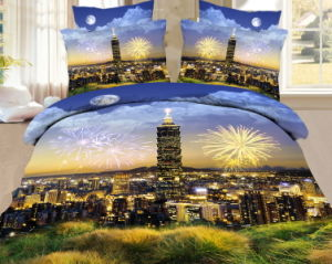 2014 Hot Selling 100% Polyester Microfiber Brushed Fabric with Floral Printing for Bed Sheet pictures & photos