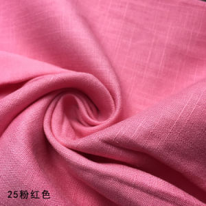 Linen Viscose Plain Dyed Fabric with Slubs pictures & photos