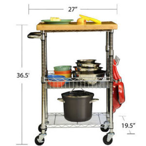 Wire Shelving Kitchen Trolley (YG-S132MLN)