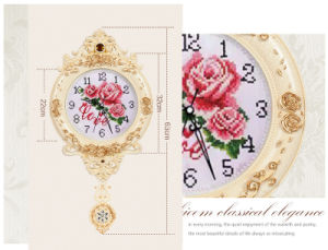 European Creative Wall Clocks Hot Sale Luxury Diamond Clock Wall Clock for Home Wall Decor (AS008) pictures & photos