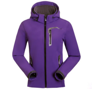 Rock Moutaineering Breathable Fabric Soft Shell Jacket Outdoor pictures & photos