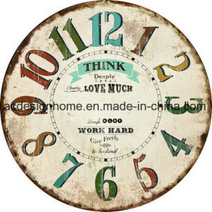 China Decorative Antique Mdf Wall Clock With Inspirational Quotes
