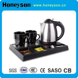 Honeyson 1000W Electric Tea Kettle Tray Set for Hotel pictures & photos
