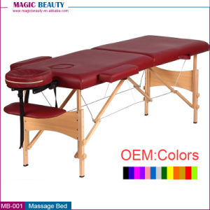 MB-001 Wholesale 2 Sections Salon Facial Wood Folding Bed with Price for Sale
