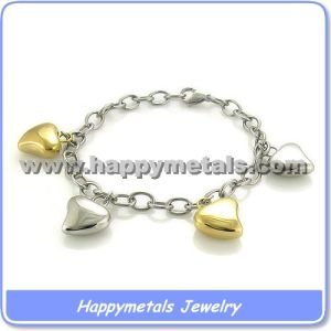 Gold Plated Stainless Steel Chain Bracelets Wholesale B3211