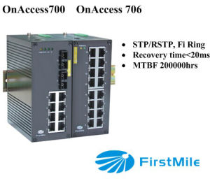 Advanced Managed Industrial Switch With10/16 Ports Onaccess 700/706 pictures & photos