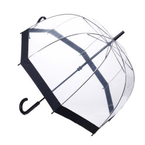 Manual Open Black Edge Straight Lady Umbrella (BD-67) pictures & photos