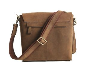 Men′s Casual Canvas PU Leather Messenger Bag