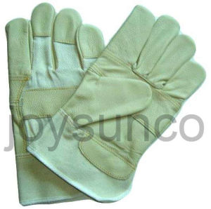 Furniture Leather Glove Industrial Safety Rigger Gloves (FWL4)
