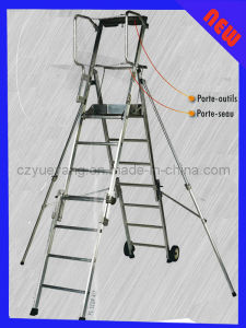 Aluminum Folding Adjustable Platform Step Ladder pictures & photos