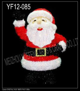 Red Tinsel Christmas Santa Clause (YF12-085)