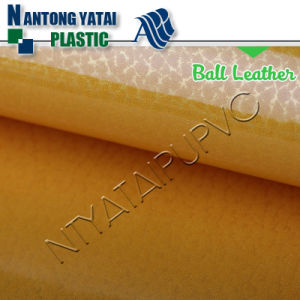 Finished PU Leather with Nonwoven Backing for Ball