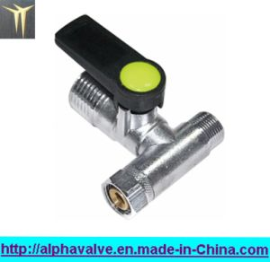 Nickle Plated Brass Tee Mini Ball Valve (a. 0200)