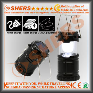 6 LED Solar Lantern for Camping with USB Outlet (SH-1995)