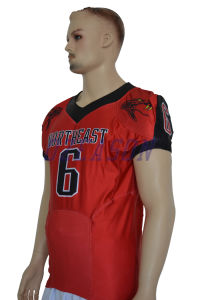 Customized American Football Uniforms Sets Football Jersey and Pants (AF020) pictures & photos
