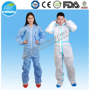 Disposable Nonwoven PP SMS Workwear Coverall pictures & photos