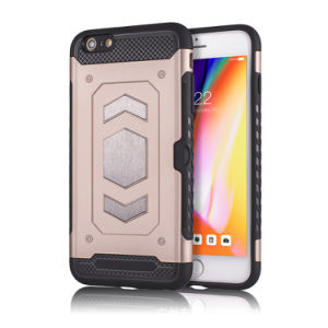best website 1b022 074fe Amazon Hot Sale Armour PC TPU Mobile Phone Case for iPhone 6 with Card  Holder